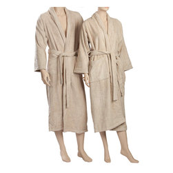 ExceptionalSheets - Egyptian Cotton Terry Cloth Robe by ExceptionalSheets - Terry Bath Robe Robe is crafted from soft, durable 100% Egyptian Cotton. Robe features terry belt, two front patch pockets, and fold back style sleeve. Available in a wide range of colors and sizes, these robes are sure to match your style while giving you the comfort of a spa at your own home! Egyptian Cotton: Why is Egyptian cotton so much better for your sheets? Quite simply, Egyptian cotton produces longer fibers (up to twice as long as a standard cotton fiber). The longer fibers or staples are easily spun into finer count yarns, and turned into the softest robes you will ever wear. It's that simple!