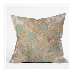 "DENY Designs - Cori Dantini Blue Floral Throw Pillow - Wanna transform a serious room into a fun, inviting space? Looking to complete a room full of solids with a unique print? Need to add a pop of color to your dull, lackluster space? Accomplish all of the above with one simple, yet powerful home accessory we like to call the DENY Throw Pillow! Features: -Cori Dantini collection. -Material: Woven polyester. -Top and back color: Print. -Sealed closure. -Spot treatment with mild detergent. -Made in the USA. -Closure: Concealed zipper with bun insert. -Small dimensions: 16"" H x 16"" W x 4"" D, 3 lbs. -Medium dimensions: 18"" H x 18"" W x 5"" D, 3 lbs. -Large dimensions: 20"" H x 20"" W x 6"" D, 4 lbs."