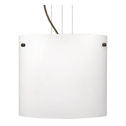 Besa Lighting - Besa Lighting 1KG-418407 Tamburo 1 Light Cable-Hung Pendant - Tamburo is a classic open-ended cylinder of handcrafted glass, a shape that will stand the test of time. Our Opal glass is a soft white cased glass that can suit any classic or modern decor. Opal has a very tranquil glow that is pleasing in appearance. The smooth satin finish on the clear outer layer is a result of an extensive etching process. This blown glass is handcrafted by a skilled artisan, utilizing century-old techniques passed down from generation to generation. The cable pendant fixture is equipped with three (3) 10' silver aircraft cables and 10' AWM cordset, and a low profile flat monopoint canopy.Features: