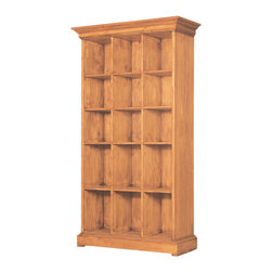Mexican Pine Bookcase - European design but rustic look and feel. Lots of space with Solid wood construction.