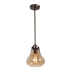 Access Lighting - Flux Retro Inspired 1-Light Pendant - Small - Flux Retro inspired 1-light pendant - small