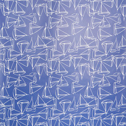 Set Sail Wallpaper, Roll, Navy
