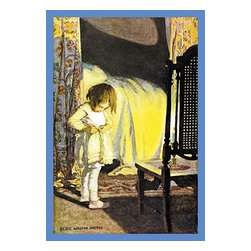"""Buyenlarge.com, Inc. - Bed in Summer - Framed Paper Poster 20"""" x 30"""" - Jessie Willcox Smith (1863 - 1935) was an American illustrator famous for her illustrations for children's books. She captured the innocence of children and worked for many magazines as well as book publishers."""