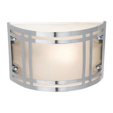 Joshua Marshal - Frosted Single Light Ambient Lighting Outdoor Wall Sconce - Frosted Single Light Ambient Lighting Outdoor Wall Sconce