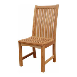 Anderson Teak - Chicago Chair - This chair is claimed to be the most comfortable chair ever built. This back & seat curve traditional style-dining chair will never go out of style, but quietly blends with any other design. The seat is very sturdy as well as the back. Place this chair in your backyard with the dining table, will amazed your family or friends. Cushion is optional and is being made by order.