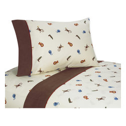 Sweet Jojo Designs - Sweet JoJo Designs 200 Thread Count Jungle Time Bedding Collection Cotton Sheet - Bring some jungle fun to bedtime with this 100 percent cotton sheet set from Sweet JoJo Designs. These twill-weave sheets are soft to the touch,and the lions,elephants and cheeky monkeys will keep your little one company throughout the night.