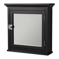 Elegant Home Fashions - Mirror Front Medicine Cabinet in Espresso Fin - Attractive addition to any bath decor. Add style and storage to your bath with refreshing furnishings. Each piece is made from MDF (Medium Density Fiberboard). Espresso finish. 18.25 in. W x 5.5 in. D x 18.5 in. H