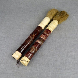 Bamboo jade brush students graduation gifts - Bamboo jade brush students graduation gifts  are made of Chinese asian rustic antique style art bamboo joints art sections.