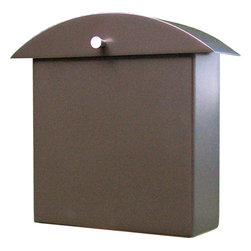 """houseArt - Monet Mailbox, Dark Bronze, One Size; 12""""wide X 4.5"""" Deep X 12.5"""" Tall - Contemporary Classic Original Design by Ginger Finley. Heavy duty, all aluminum wall mount mailbox, with a durable exterior powdercoated finish. Lid swings up for box opening. Installs simply with 2 screws. Matching Numbers/Letters available. Beautiful! Made in USA. Made 100% in Michigan. Compatible with Modern, Mid-Century Modern, Craftsman, and even Traditional.  Love your Mailbox!"""