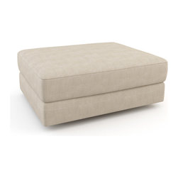 "Viesso - Strata Ottoman - 34"" x 27"" (Custom) - This ottoman goes with the Strata model, or could be used on its own. It has a simple and functional design."