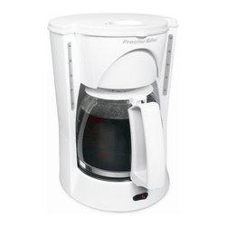 HAMILTON BEACH/PROCTOR SILEX - 48521ry White 12 Cup Coffeemaker - Proctor-silex 12-cup coffeemaker