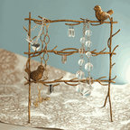 Gold Leaf Birds on Branches Jewelry Holder - This jewelry holder is so unique! I love the gold tone, and the birds are so sweet.