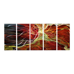 Matthew's Art Gallery - Metal Wall Art Abstract Modern Sculpture Wall Decor Liquid Fire - Name: Liquid Fire