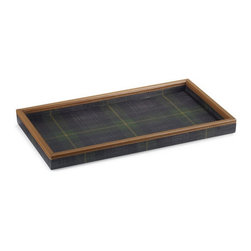 Bentham Plaid Desk Valet Tray - Everything by Ralph Lauren screams preppy American style, but it really doesn't get much preppier than this plaid and saddle leather tray.