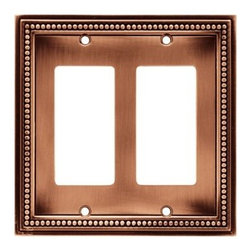 Liberty Hardware - Liberty Hardware 64247 Beaded WP Collection 4.96 Inch Switch Plate - A simple change can make a huge impact on the look and feel of any room. Change out your old wall plates and give any room a brand new feel. Experience the look of a quality Liberty Hardware wall plate. Width - 4.96 Inch, Height - 5 Inch, Projection - 0.3 Inch, Finish - Aged Brushed Copper, Weight - 0.43 Lbs.