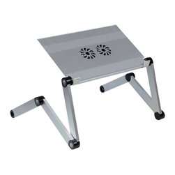 Furinno - Furinno X7 Aluminum Lapdesk with USB Fan, Silver - Furinno X7 Hidup-AdJustable Cooler Fan Notebook Laptop Table Portable Bed Tray Book Stand.
