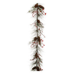 Silk Plants Direct - Silk Plants Direct Long Needle Pine Cone, Cedar, Pine and Berry Garland (Pack of - Pack of 2. Silk Plants Direct specializes in manufacturing, design and supply of the most life-like, premium quality artificial plants, trees, flowers, arrangements, topiaries and containers for home, office and commercial use. Our Long Needle Pine Cone, Cedar, Pine and Berry Garland includes the following: