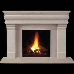 Chester Stone Fireplace Mantel - The Chester Classic Stone fireplace mantel is created using a beautiful composite stone mantel material. Available in your choice of finishes and colors, it's the perfect instant room upgrade!