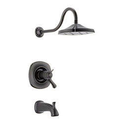 Delta - Delta T17T492-RB Addison TempAssure 17T Series Tub/Shower Trim (Venetian Bronze) - The Addison collection offers a dainty, sea-shell inspired design, giving your bathroom a statuesque, enchanting touch to your bath.