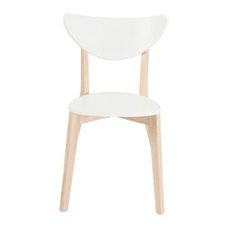 Euro Style - Euro Style Montana Side Chair Set of 4 90181WHT - Sometimes you want pieces that don't make a fuss. That requires simplicity of design that puts function first. The Montana collection is a perfect example. White tops and natural rubber wood legs and frames may not make the boldest statement.