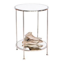 Chico Small 2-Tier Nickel Side Table - Chico Small 2 Tier Nickel Side Table