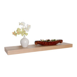"""Welland - Wood Veneer Wall Shelf 36"""" - The problem: You need more shelving but have officially depleted your furniture budget for the year. The solution: Mount these versatile wall shelves throughout your home or office to create all the space you need without investing in costly bookcases or cabinets. The end."""