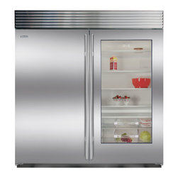 "Sub-Zero 36"" Built-in All Refrigerator With Glass Door | BI-36RG/S/PH - Sub-Zero 36"" Built-in 23.3 Cu. Ft. All Refrigerator With Glass Door, Stainless Steel - Pro Handle | BI-36RG/S/PH | BI-36RGSPH"