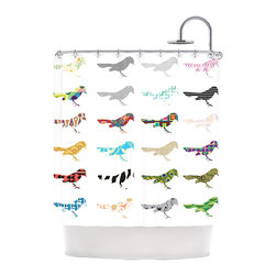 """Kess InHouse - Belinda Gillies """"Birds"""" Shower Curtain - Finally waterproof artwork for the bathroom, otherwise known as our limited edition Kess InHouse shower curtain. This shower curtain is so artistic and inventive, you'd better get used to dropping the soap. We're so lucky to have so many wonderful artists that you'll probably want to order more than one and switch them every season. You're sure to impress your guests with your bathroom gallery in addition to your loveable shower singing."""