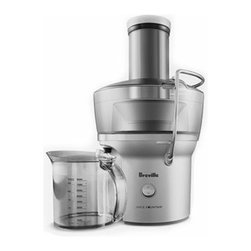 Breville - Breville Juice Fountain Compact Juicer - Fresh fruit and veggie juices are always a good idea. Keep this space saving juicer in your small kitchen and blend up eight ounces of juice in just five seconds. You'll be on your way to optimum health in no time. Oh, and clean up will be a breeze because you can pop all the pieces in the dishwasher when you're done.
