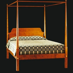 Tiger Maple Four Poster Bed - Tiger maple four poster bed. Custom styles and beds available.