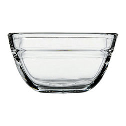 Hospitality Glass - 2.25H x 4.25T 15 oz Square Stacking Bowl 6 Ct - 15 oz Square Stacking Bowl