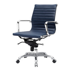 Meelano - M344 Eames Style Office Chair In Navy Blue - Make your career dreams come true. Always Be Closing. Inspired by Mid-Century ideals, you'll go far and wide with your leadership skills sitting here. Attack your competition and become the master of your office.