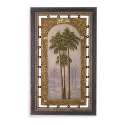 Bassett Mirror - Bassett Mirror Framed Under Glass Art, Palms II - Palms II