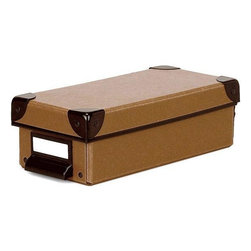 Home Decorators Collection - Cargo Naturals Pencil Box - The earth-friendly design of the Cargo Naturals Pencil Box will add a smart accent to your desk while it keeps your pens, pencils and other small items handy and organized. It has a hinged top for easy access and it's durably made of acid-free fiberboard from 100% recycled material, making it smart for the environment. Make general organization for your office or home decor easy; order today.Made of 100% recycled, post-consumer material in earthy colors.Features a stylish metal pull, an ID label window, metal accents and a hinged top.The perfect size for storing folded maps.Slight variations in color and unique flecks and fibers are characteristic.Durable fiberboard is acid-free so it's safe for photos and keepsakes.Completely recyclable according to international environmental standards.