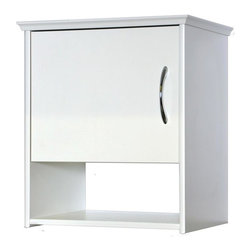 Creative Connectors - 12 in. Wall Cabinet - White - CARB-Compliant Wood Solid Composite with Melamine Finish. To clean wipe with aclean, damp cloth.. . Finish: White. 12.25 in. L x 17.5 in. D x 19.75 in. H