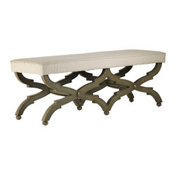 Zentique - Crescenzo Bench - Whether you need just a single seat or a place for two, this classic bench will give you endless options. Choose from a single or multiseat design and move this around the room for flexible seating arrangements. The single version is perfect for the living room, while the longer bench would be great at the end of the bed.