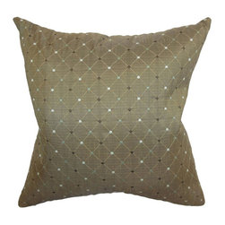 Pillow Collection Inc - The Pillow Collection Belevia Diamond Pillow - Espresso Dark Brown - P18-MVT-105 - Shop for Pillows from Hayneedle.com! The details make the Belevia Diamond Pillow Espresso special. This stylish accent pillow features an intricate diamond and dot pattern in shades of brown and light blue. Made with 50% silk and 50% polyester fabric this pillow is sure to impress.About The Pillow CollectionIdentical twin brothers Adam and Kyle started The Pillow Collection with a simple objective. They wanted to create an extensive selection of beautiful and affordable throw pillows. Their father is a renowned interior designer and they developed a deep appreciation of style from him. They hand select all fabrics to find the perfect cottons linens damasks and silks in a variety of colors patterns and designs. Standard features include hidden full-length zippers and luxurious high polyester fiber or down blended inserts. At The Pillow Collection they know that a throw pillow makes a room.