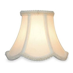 Lite Source Inc. - Eggshell Bell Chandelier Shade with Scalloped Trim - Changing shades is a quick and easy way to update the look of your lighting fixture. This shade is a bell shaped chandelier in eggshell fabric with scalloped details.