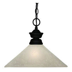 Z-Lite - Z-Lite Pendant Light X-31LWM-BS107001 - Bold styling defines this Pendant Light. Finished in sand black, this fixture uses a mission white linen shade to create a modern look. This fixture includes 36'' of chain to ensure a perfect hanging height.