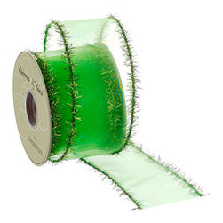 Silk Plants Direct - Silk Plants Direct Tinsel Edge Sheer Ribbon (Pack of 6) - Silk Plants Direct specializes in manufacturing, design and supply of the most life-like, premium quality artificial plants, trees, flowers, arrangements, topiaries and containers for home, office and commercial use. Our Tinsel Edge Sheer Ribbon includes the following: