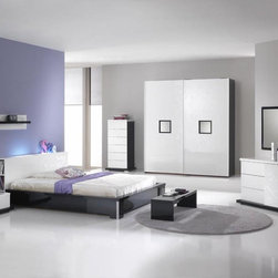 Made in Italy Quality Platform Bedroom Sets with Extra Storage - High-quality furniture Italian modern bedroom set with led light. Beds are a necessary piece of furniture used as a product for sweet and calm slumber.