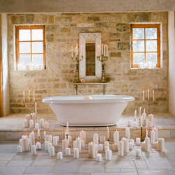 Master Bathrooms in antique limestone - mages by 'Ancient Surfaces'