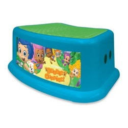 Ginsey Industries, Inc. - Nickelodeon Bubble Guppies Step Stool - Give your child a boost with this Bubble Guppies Step Stool. Lightweight and durable with a non-slip surface and skid-resistant rubber footing, this stool is perfect for little ones around the house, especially in the bathroom and during potty training.