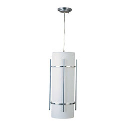 Maxim Lighting - Maxim Luna 1-Light Outdoor Hanging Lantern Brushed Metal - 85214WTBM - Lu EE, a contemporary style collection from Maxim Lighting, features both indoor and outdoor sconces, pendants and flush mounts available in three finishes, Brushed Metal, natural Iron or Oil Rubbed Bronze.