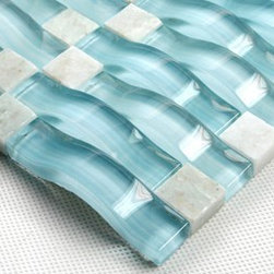 Arched Glass Mosaic Tiles CGMT081 - Color Family: