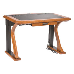 """Caretta Workspace - Artistic Series Computer Desks, Artistic Comuter Desk 1 - The 45"""" X 32"""" Artistic Computer Desk 1 is designed with artistic shaped legs that provide a clean, stylish look."""