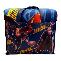 Jay Franco and Sons - Superman Symbol Twin Bedding Set DC Comics Comforter Sheets - FEATURES: