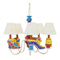 Trans Globe Lighting - Trans Globe Lighting Kids Korner Transitional Shoes and Shades Chandelier - Shades included.