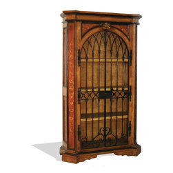 Antiqued Raquel Armoire, Maple Distressed with Scrolls - Antiqued Raquel Armoire, Maple Distressed with Scrolls