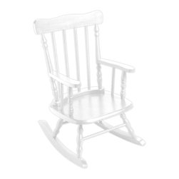 Gift Mark - Gift Mark Home Kids Children Rocking Chair White - The Gift mark Hand Crafted Spindle Rocking Chair is Designed for Beauty and Durability. Each Spindle is Hand carved, with Great Detail. Each Spindle Rocking Chair is Crafted from Solid Wood. This Rocking Chair is built to Heirloom-Quality, and will be part of your Family for Generations. Extra Thick Seat. Easy to Assemble. Includes All Tools For Assembly.